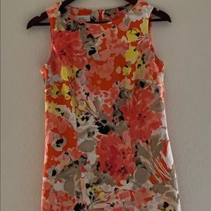 ALYX Multi-Color Abstract Floral Pattern Dress